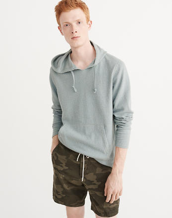 ANF Lightweight Textured Hoodie