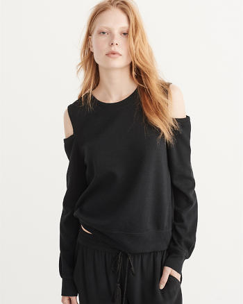 ANF Cold-Shoulder Sweatshirt