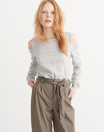 ANF Cold-Shoulder Sweatshirt