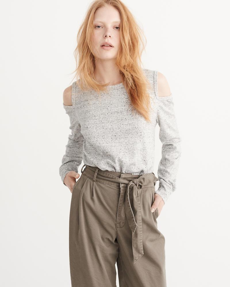 cold-shoulder sweatshirt