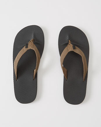 ANF Mixed Media Rubber Flip Flops