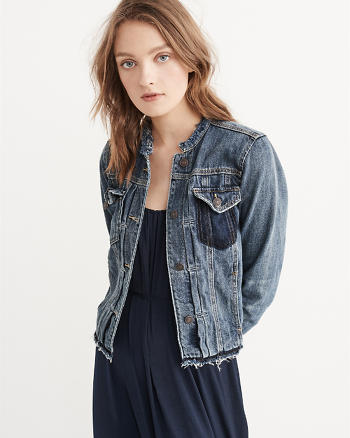 ANF Frayed Denim Jacket