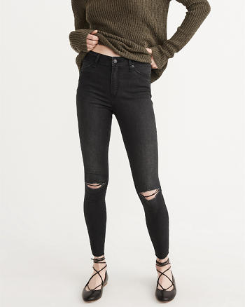 ANF Super Skinny High-Rise Jeans