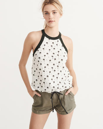ANF French Terry Drawstring Tank