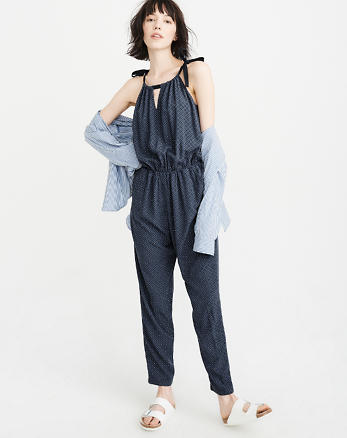 Tie-Shoulder Jumpsuit