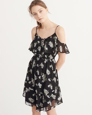 ANF Cold-Shoulder Dress