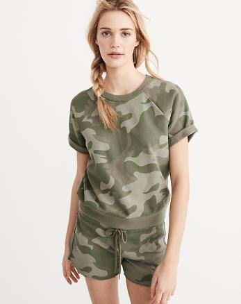 ANF Short-Sleeve Printed Sweatshirt