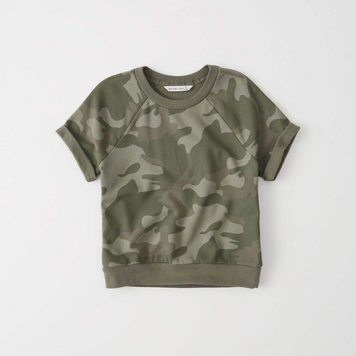 Short-Sleeve Printed Sweatshirt