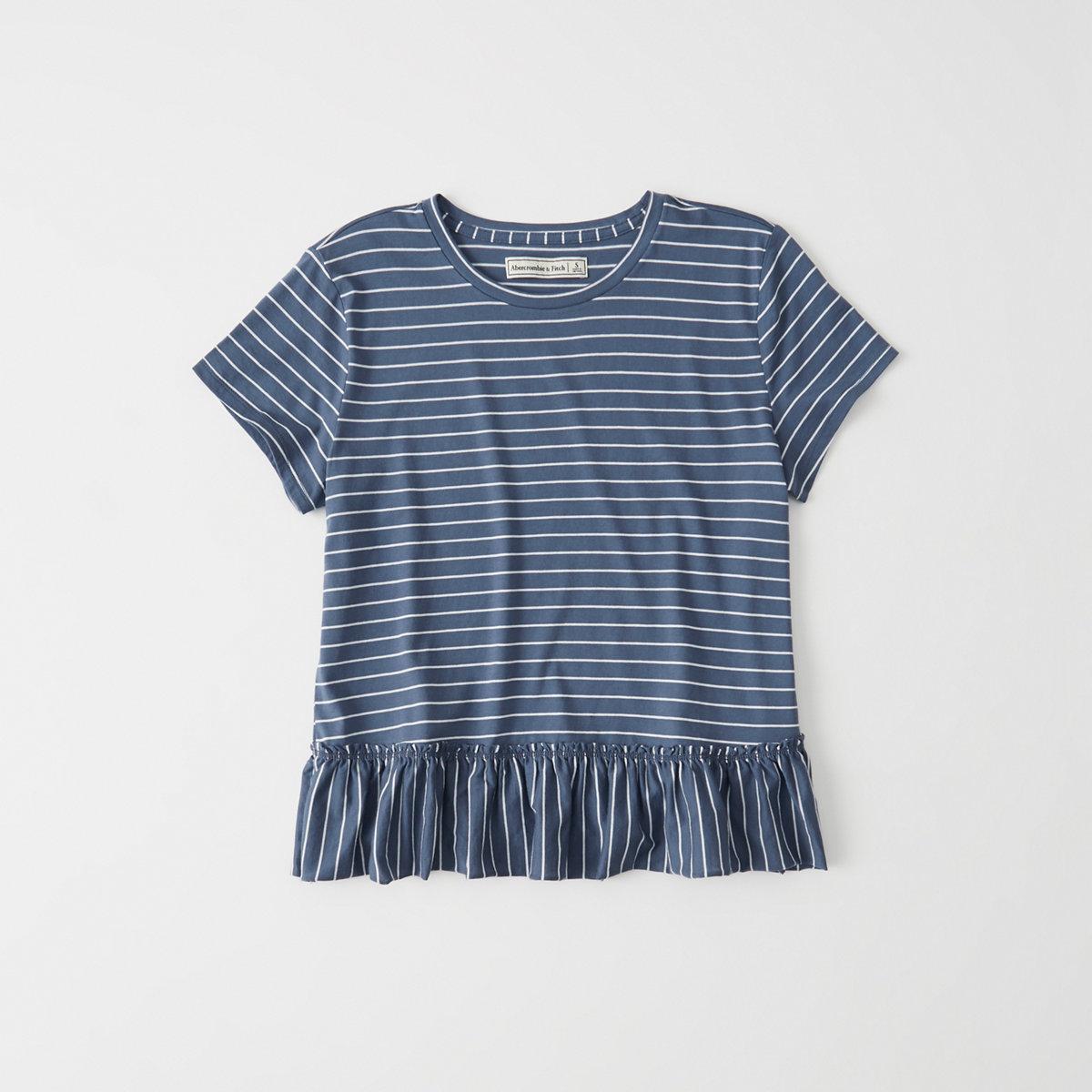 Short-Sleeve Peplum Tee