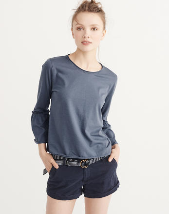 ANF Bell Sleeve Top