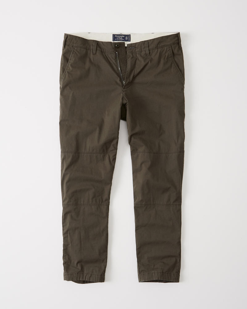 Mens Athletic Slim Cropped Pants Mens Sale Abercrombie Com