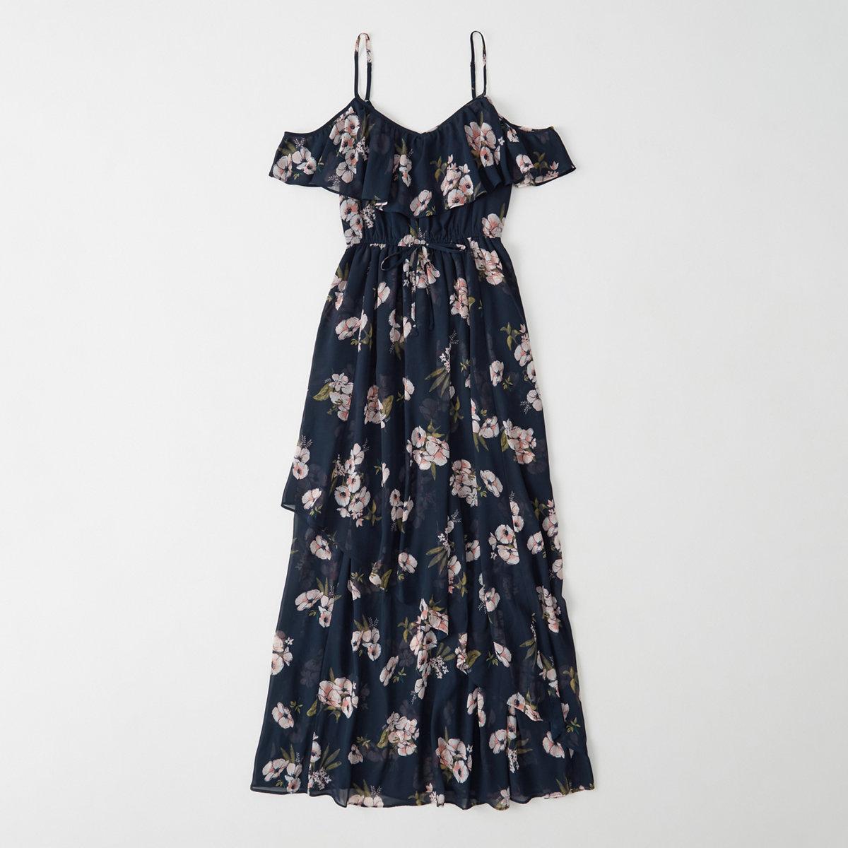 Cold-Shoulder Maxi Dress