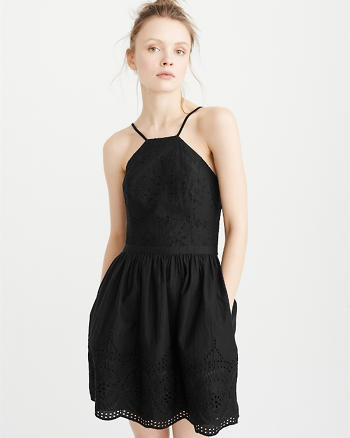 ANF Eyelet Skater Dress