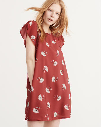 ANF Flutter Sleeve Dress