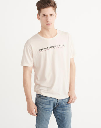 ANF Linen-Blend Graphic Tee
