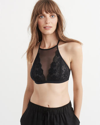 ANF High-Neck Lace Bralette