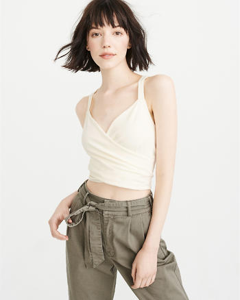 ANF Cropped Wrap Tank