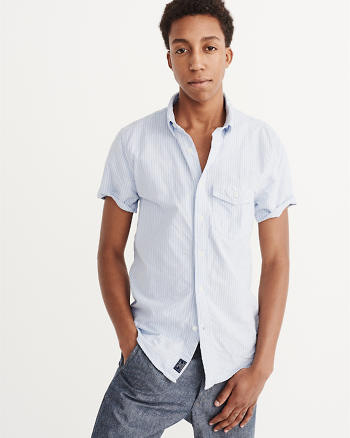 Mens clearance abercrombie fitch for Short sleeve mens dress shirts clearance