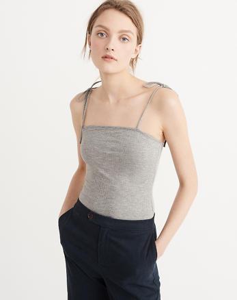 Tie-Shoulder Bodysuit