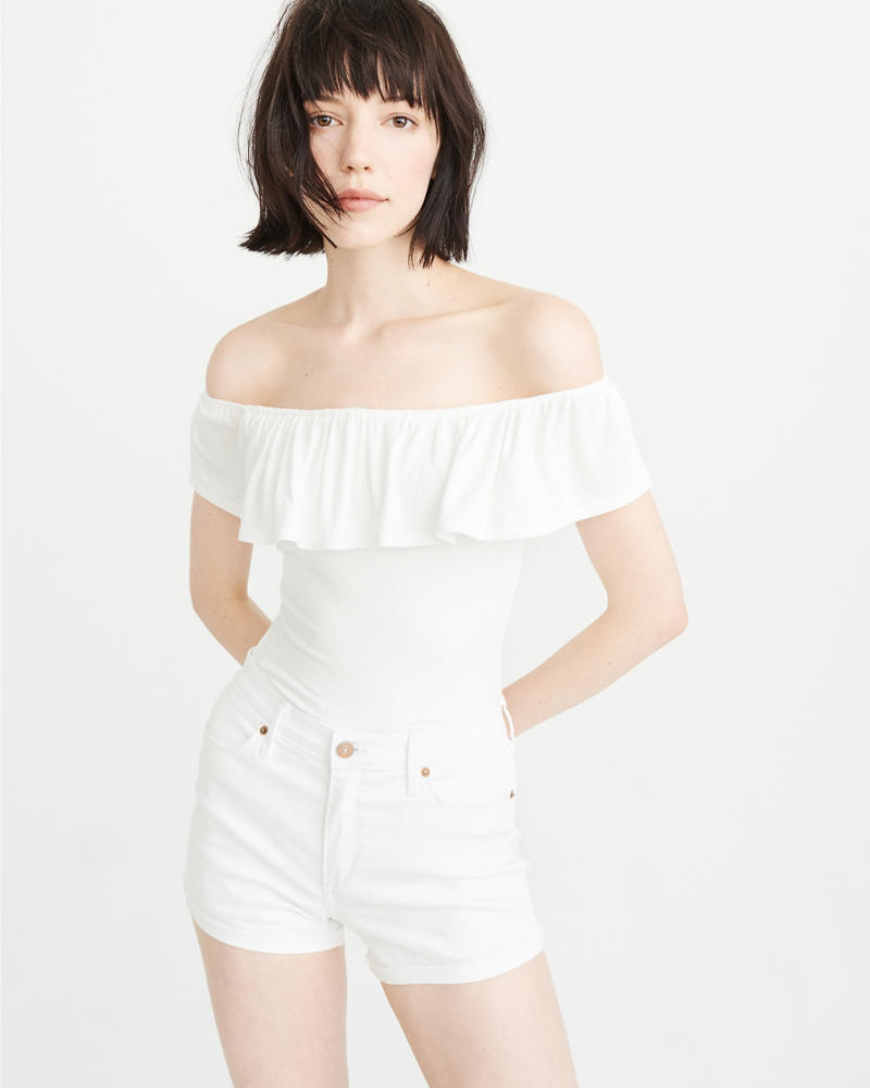 off-the-shoulder bodysuit