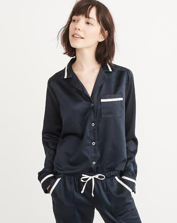 ANF Menswear Pajama Shirt