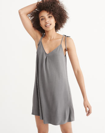 ANF Tie-Shoulder Swing Dress