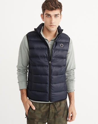 ANF Lightweight Down-Filled Packable Puffer Vest