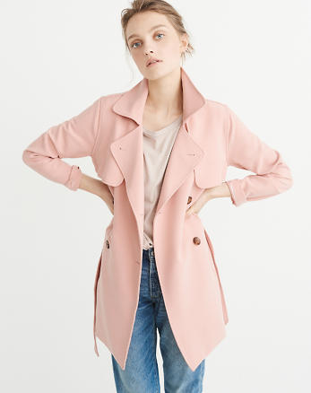 ANF Drapey Trench Coat