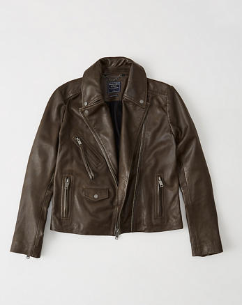 ANF Leather Biker Jacket