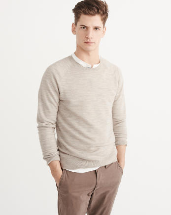 ANF Merino-Blend Crewneck Sweater