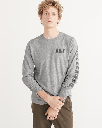 ANF Applique Logo Long-Sleeve Tee