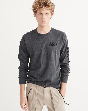 ANF Applique Logo Long-Sleeve Tee
