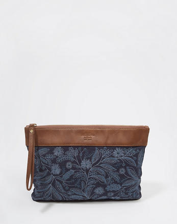 ANF Embellished Canvas Clutch