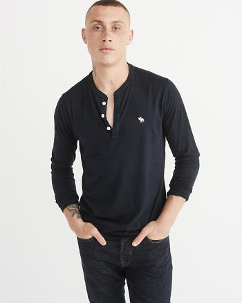 ANF Pop Icon Long-Sleeve Henley
