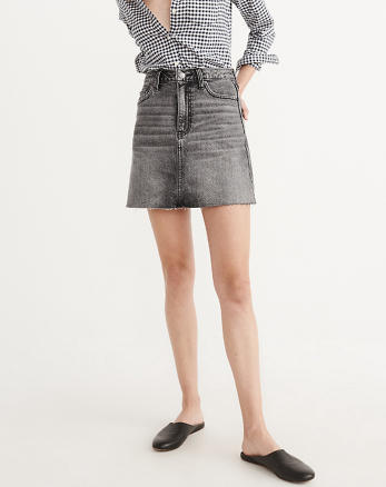 ANF High-Rise Denim Mini Skirt