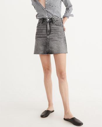 ANF High-Rise Denim Mini Skirt