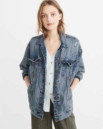 ANF Girlfriend Denim Jacket