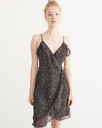 ANF Ruffle Wrap Dress