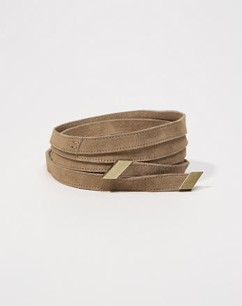 ANF Suede Wrap Belt
