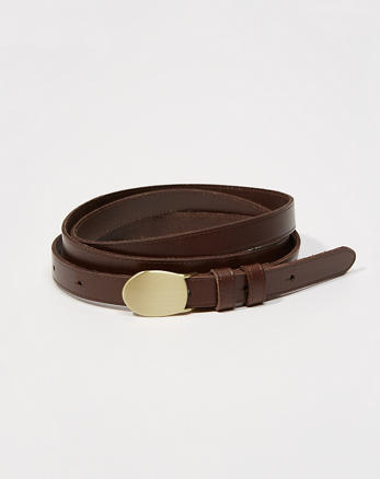 ANF Leather Double Wrap Belt
