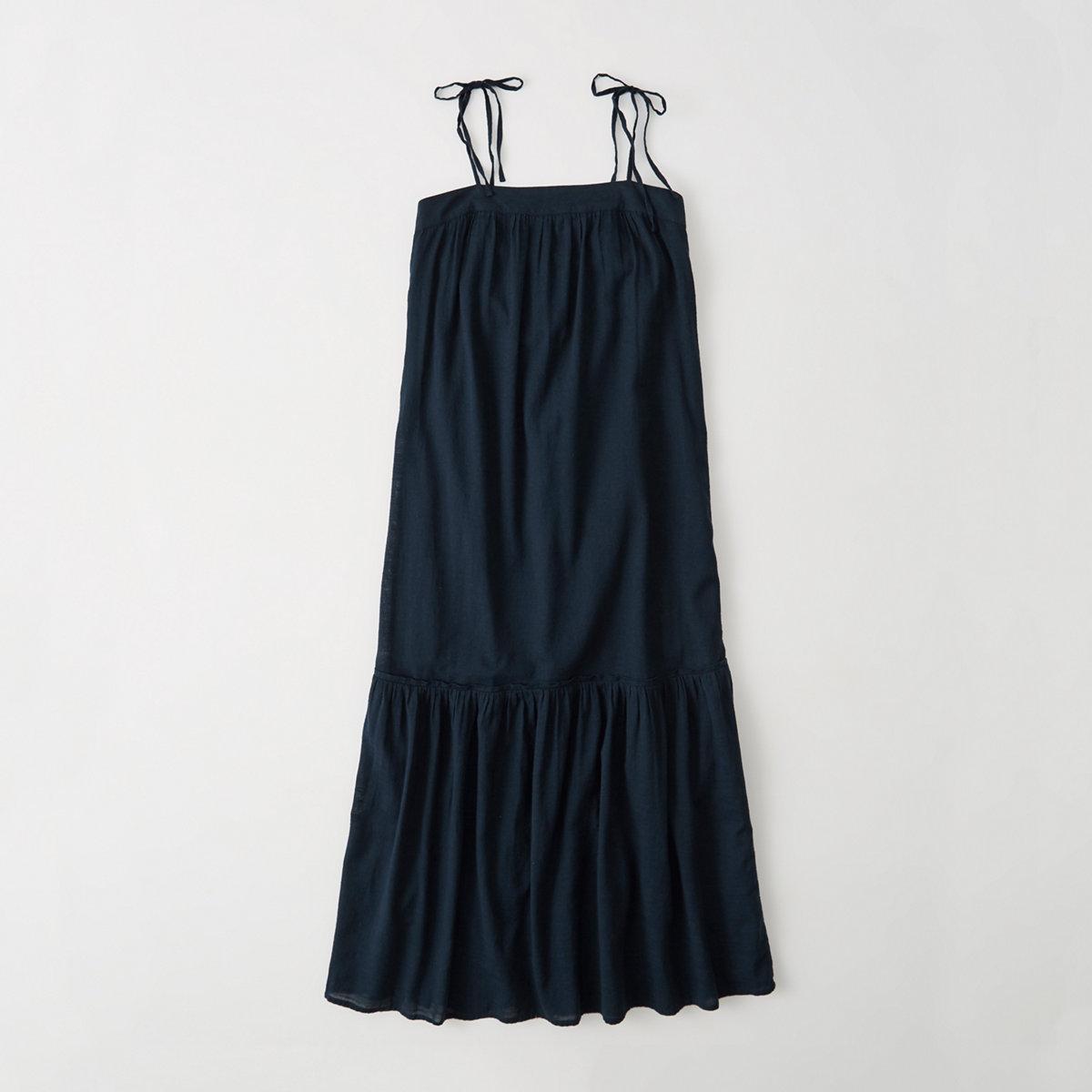 Tie-Shoulder Maxi Dress