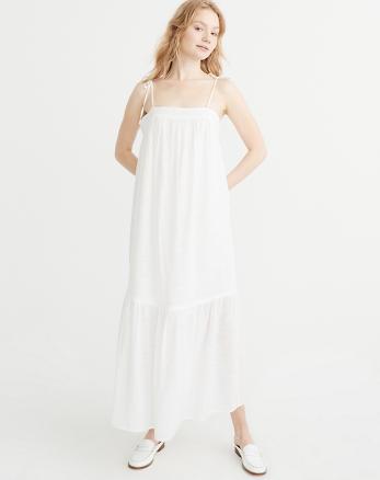 ANF Tie-Shoulder Maxi Dress