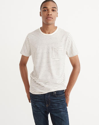 ANF Recycled Fabric Striped Tee