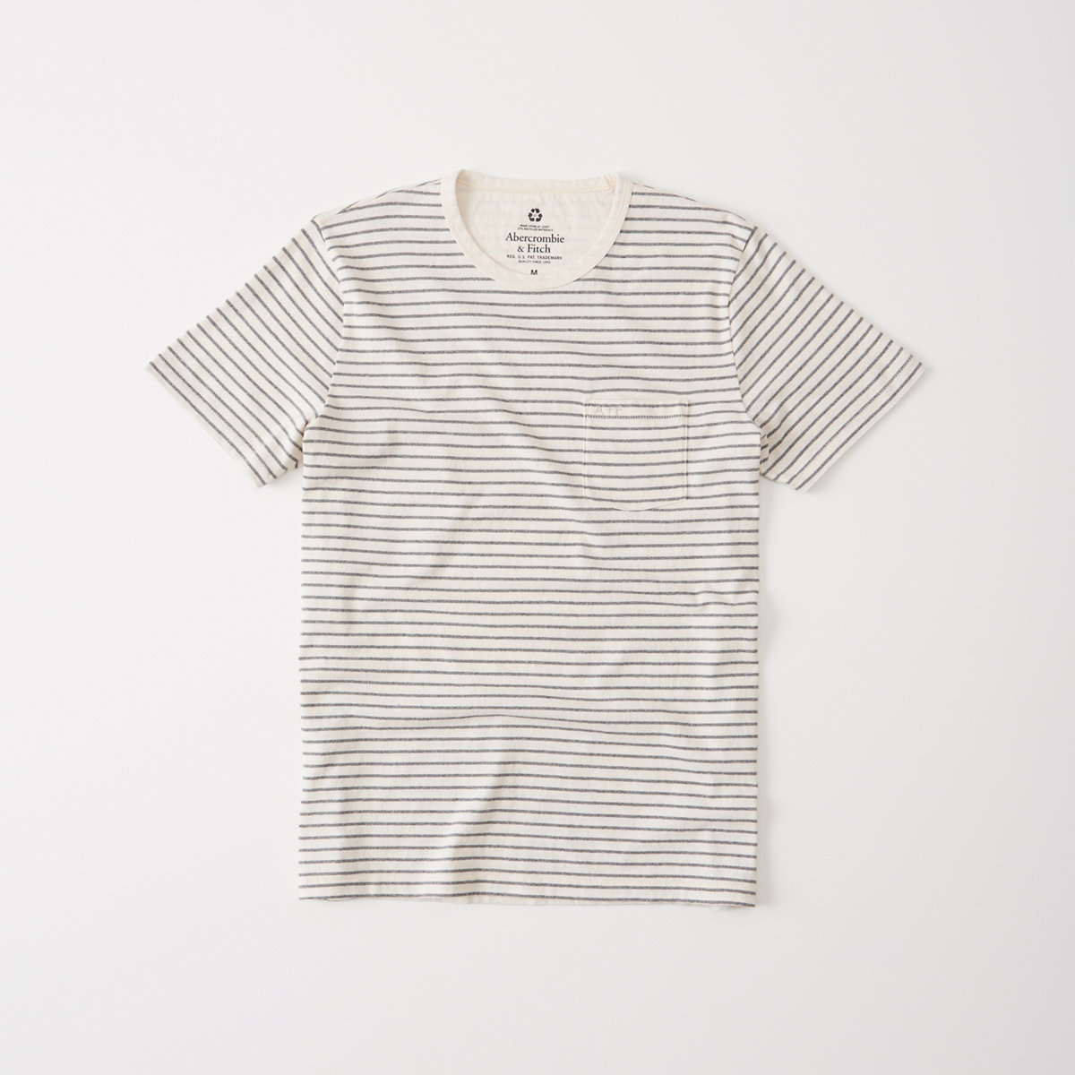 Recycled Fabric Striped Tee