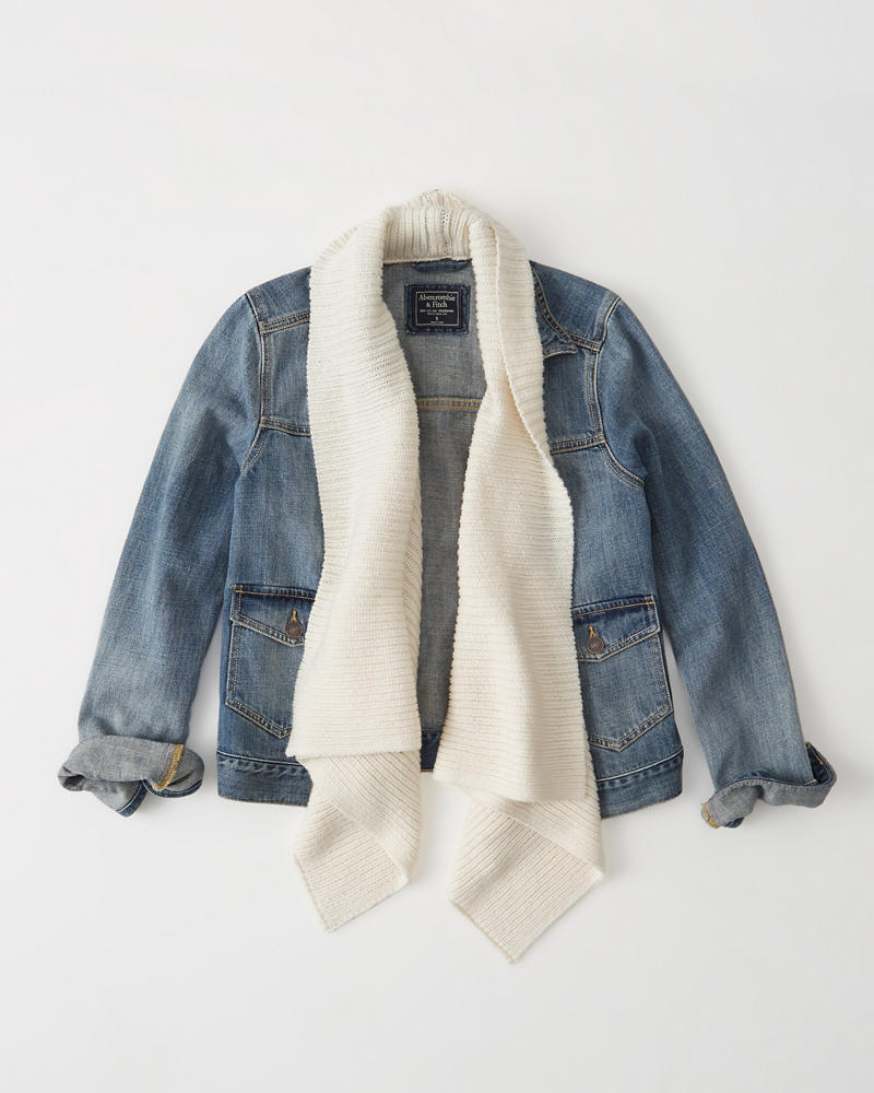 To wear a jean jacket, try pairing it with denim pants that are a different color or wash for contrast. Alternatively, pick a light, flowy skirt or dress to offset the bulkiness of the jacket .