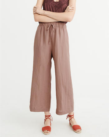 ANF Cropped Wide-Leg Pants