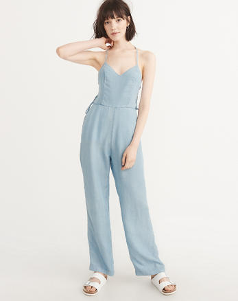 ANF Side Lace-Up Jumpsuit