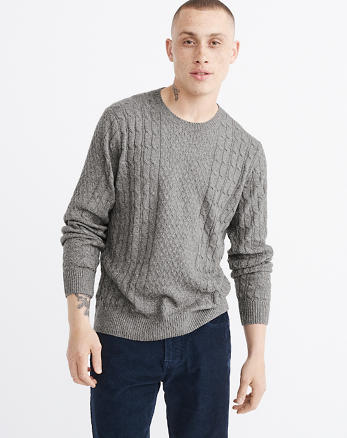 ANF Cable Crewneck Sweater