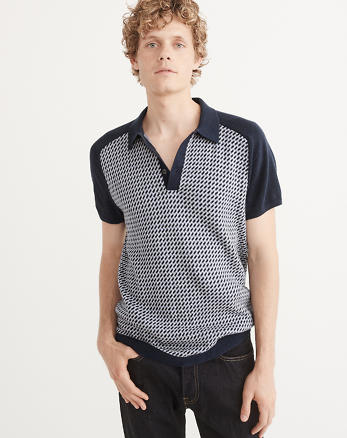 ANF Patterned Polo Sweater