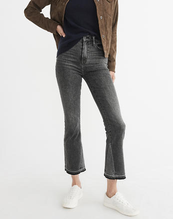 ANF High-Rise Ankle Flare Jeans